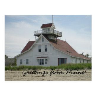 Grüße von Maine-Postkarte Postkarte