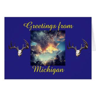Grüße von Michigan Karte
