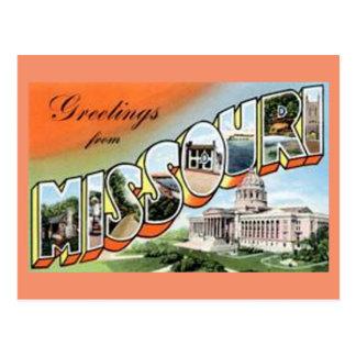 Grüße von Missouri Postkarte