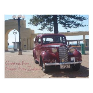 Grüße von Napier, Neuseeland Postkarte