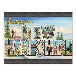 Grüße von New Hampshire, Vintag Postkarte