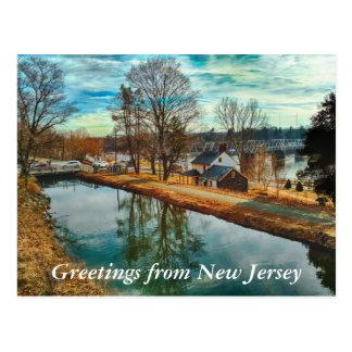 Grüße von New-Jersey Postkarte