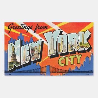 Grüße von New York City Rechteckiger Aufkleber