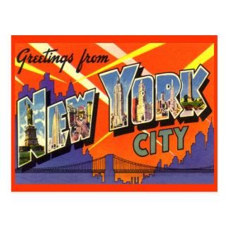 Grüße von New- York Citypostkarte Postkarte