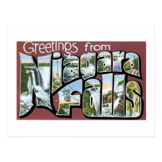 Grüße von Niagara Falls! Vintag Postkarte