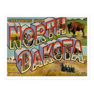 Grüße von North Dakota Postkarte
