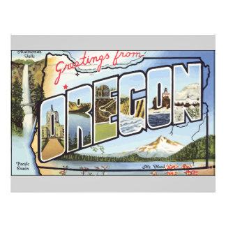 Grüße von pazifischem Ozean Oregons, Vintag Flyer Druck