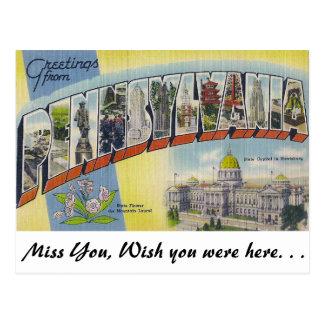 Grüße von Pennsylvania Postkarte