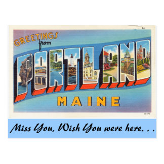 Grüße von Portland Postkarten