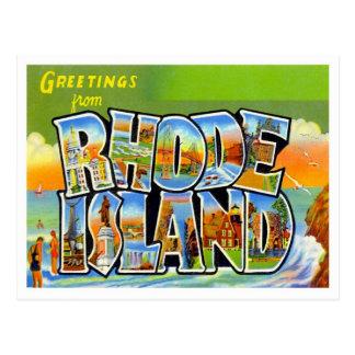 Grüße von Rhode Island Postkarten