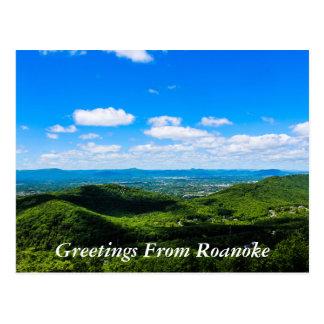 Grüße von Roanoke Postkarte