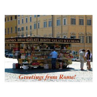 Grüße von Rom Postkarte