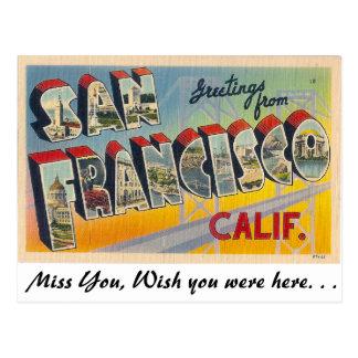 Grüße von San Francisco Postkarte