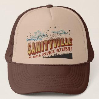 Grüße von Sanityville - ein netter zu besuchender Truckerkappe