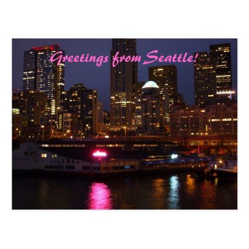 Grüße von Seattle! Postkarte