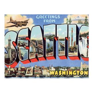 Grüße von Seattle, Washington USA Postkarte