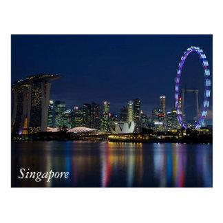 Grüße von Singapur Postkarte