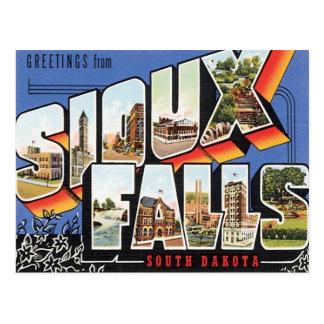 Grüße von Sioux Falls, South Dakota Postkarte