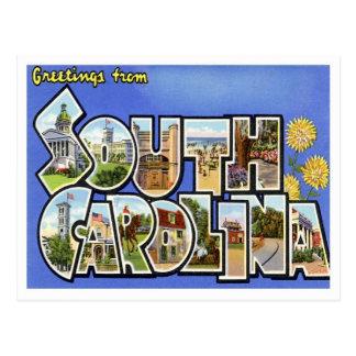 Grüße von South Carolina Postkarte