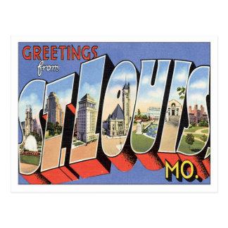 Grüße von St. Louis Missouri Postkarte