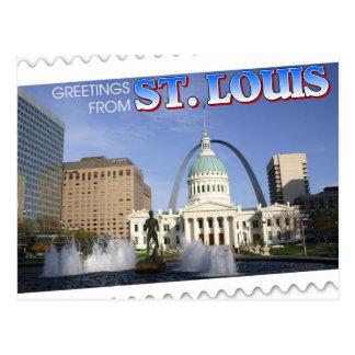 Grüße von St. Louis, Missouri Postkarte
