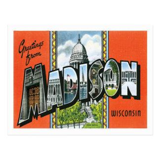 Grüße von Stadt Madisons Wisconsin US Postkarte