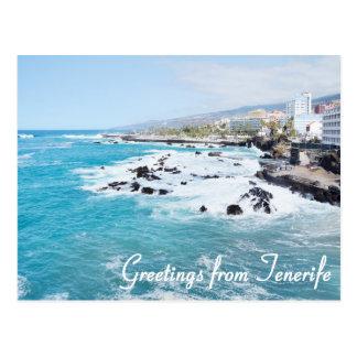 Grüße von Teneriffa-Postkarte Postkarte