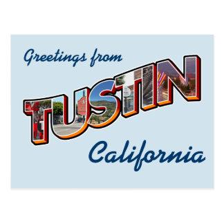 Grüße von Tustin, Kalifornien Postkarte
