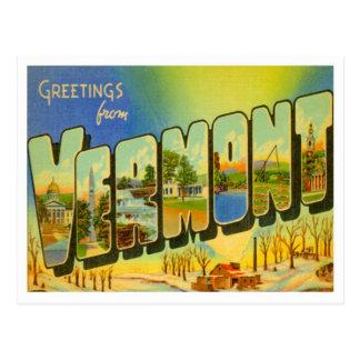 Grüße von Vermont Postkarte