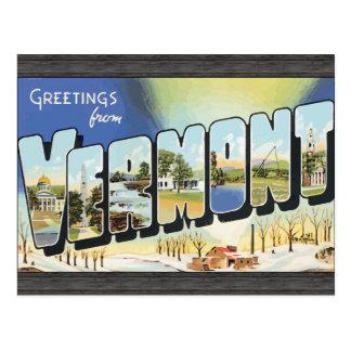 Grüße von Vermont, Vintag Postkarte