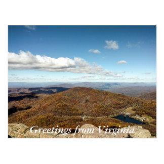 Grüße von Virginia-Postkarte 4 Postkarte