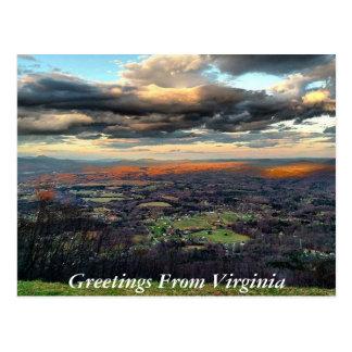 Grüße von Virginia-Postkarte 6 Postkarte