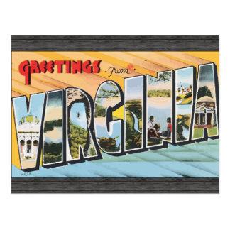 Grüße von Virginia, Vintag Postkarte