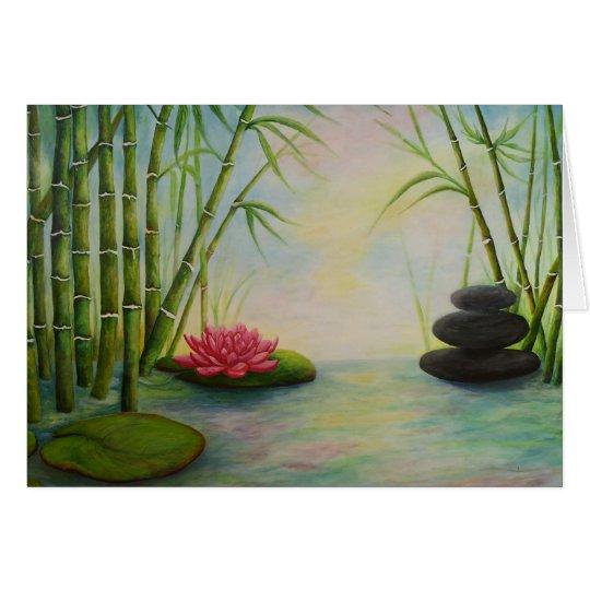 Grußkarte,,Bambus und Steine,, Karte