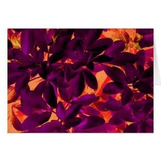 Grußkarte Choisya Herbstes 3