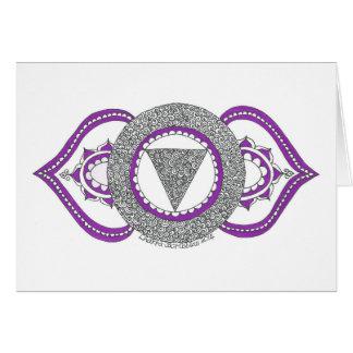 Grußkarte, die drittes Auge chakra kennzeichnet Grußkarte