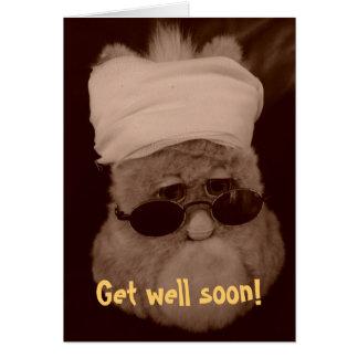 """Grusskarte """"Get well soon!"""" Karte"""