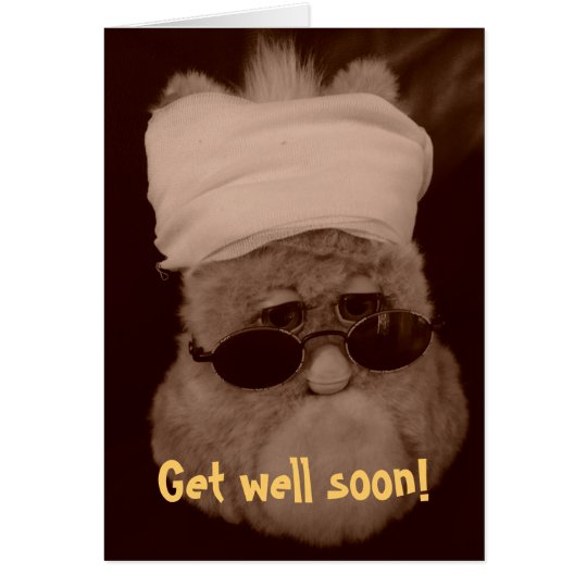 "Grusskarte ""Get well soon!"" Karte"