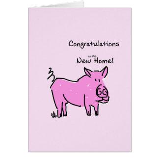 Grußkarte Glückwünsche auf dem neuen Zuhause