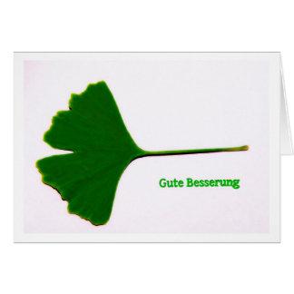 Grußkarte Gute Besserung Ginkgo-Blatt