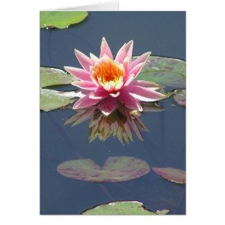 """Grußkarte """"rosa Lotus-Blüte"""""""