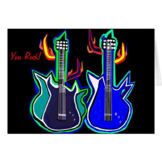 Grußkarten für Rocker guitarlovers