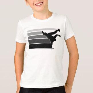 Gry Schwarz-Kinder BBOY Steigung T-Shirt