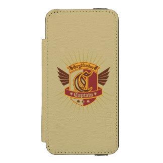 Gryffindor Quidditch Kapitän Emblem Incipio Watson™ iPhone 5 Geldbörsen Hülle