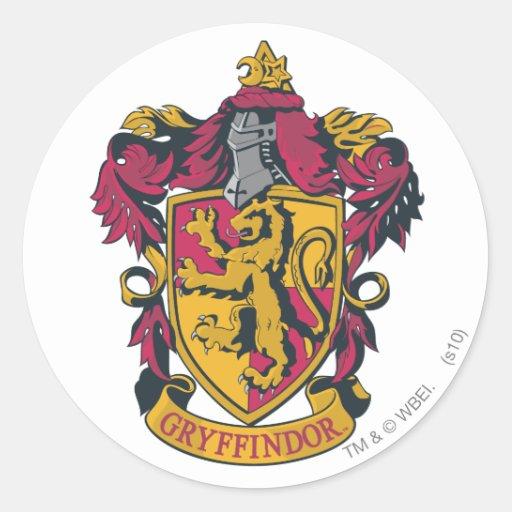 Gryffindor Wappenrot und -gold Aufkleber