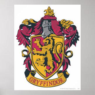 Gryffindor Wappenrot und -gold Poster
