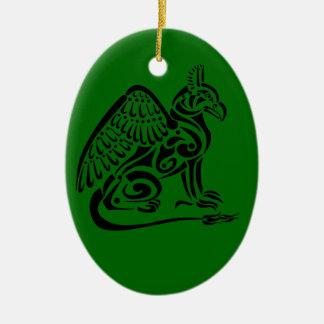 Gryphon Oval-Verzierung Keramik Ornament