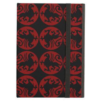 Gryphon Silhouette-Muster - Rot und Schwarzes