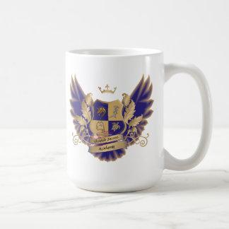GSAs Haus-Wappen mit Flügel-der blauen Kaffeetasse