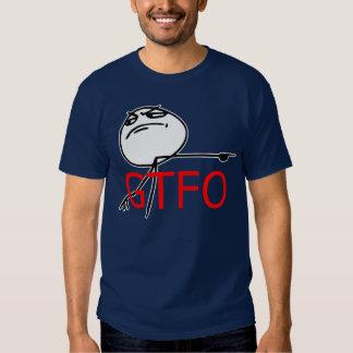 GTFO gehen Typ-Raserei-Gesichts-Comic Meme hinaus Shirt